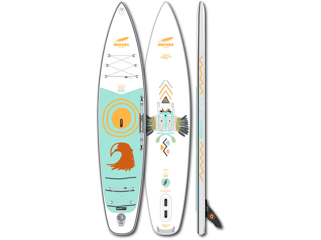 Indiana SUP 11'6 Touring LITE LTD Inflatable SUP Board, white/blue